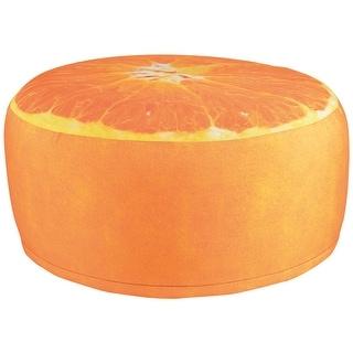 Outdoor Inflatable Pouffe Fruit Garden Seat - Orange Slice Shape