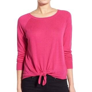 Splendid NEW Pink Women's Size Medium M Crewneck Tie-Front Sweater