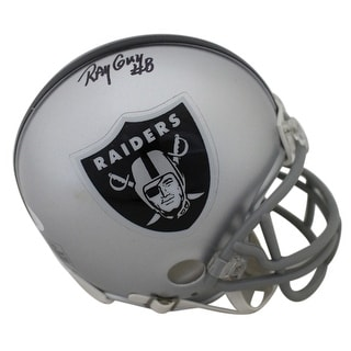 Ray Guy AutographedSigned Oakland Raiders Mini Helmet JSA