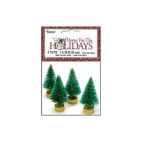 "Darice Holiday Sisal Christmas Tree 1.5"" Green 4pc"