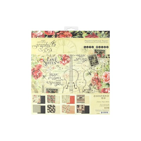 4501825 graphic 45 love notes paper pad 8x8