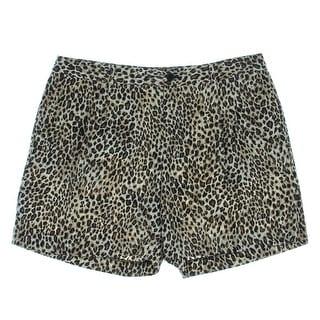 Lauren Ralph Lauren Womens Animal Print Pleated Casual Shorts - 6