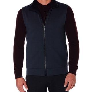Perry Ellis NEW Dark Sapphire Blue Mens Size XL Full-Zip Vest Sweater