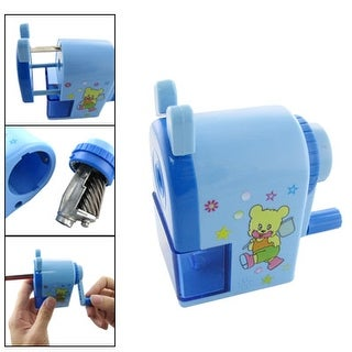 Unique Bargains Cartoon Bear Print Hand Operated Pencil Sharpener Blue