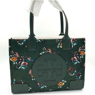 Link to TORY BURCH ELLA Printed Logo Mini Nylon Tote Bag In Green French Paisley Similar Items in Shop By Style