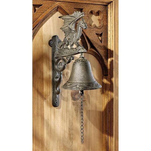 Design Toscano Halloween Dragon of Murdock Manor Gothic Iron Bell