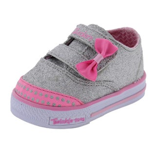 Twinkle Toes by Skechers Shuffles Glamour Baby Casual Shoes Glitter Low Top - 1 medium (b,m) infant