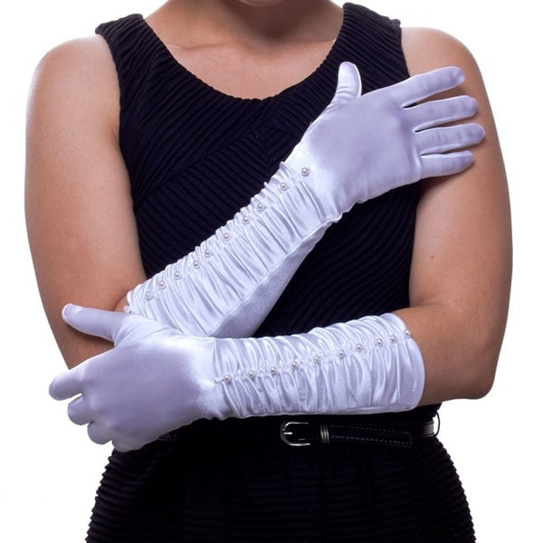 Fancy Dinner Cruise Pearl Gloves for Ladies