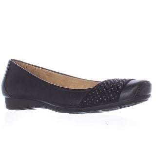 naturalizer Vine Square Toe Ballet Flats - Black