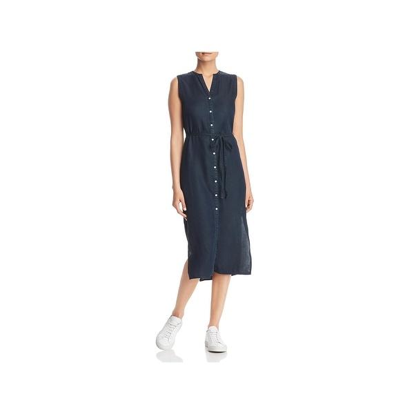90696f1ddee73 Shop DL1961 Womens Lispenard T-Shirt Dress Tencel Button-Down - Free ...