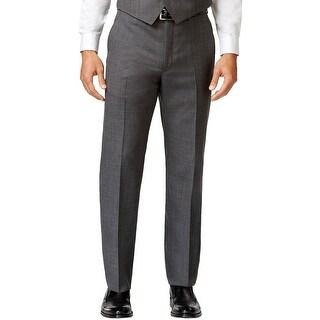 Tommy Hilfiger Custom Fit Flat Front Dress Pants Dark Grey 31 x 32