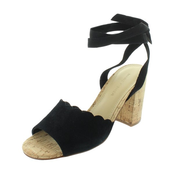 2143dc637be Marc Fisher Womens Piya 2 Block Heels Suede Lace Up - 6.5 Medium (B