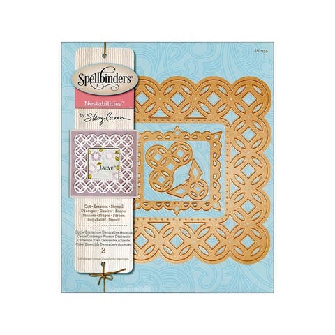S6-055 spellbinders die nestabilities circle cont accent