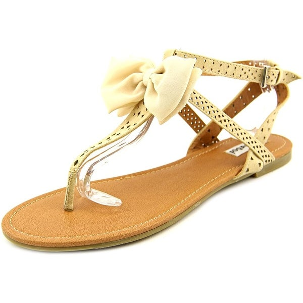 Not Rated Jaded Open Toe Canvas Thong Sandal