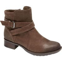 Rockport Women's Cobb Hill Caroline Ankle Boot Stone Leather