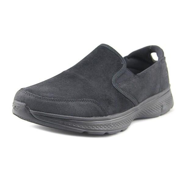 Skechers Go Walk 4 Deliver Men EW Round Toe Synthetic Black Sneakers