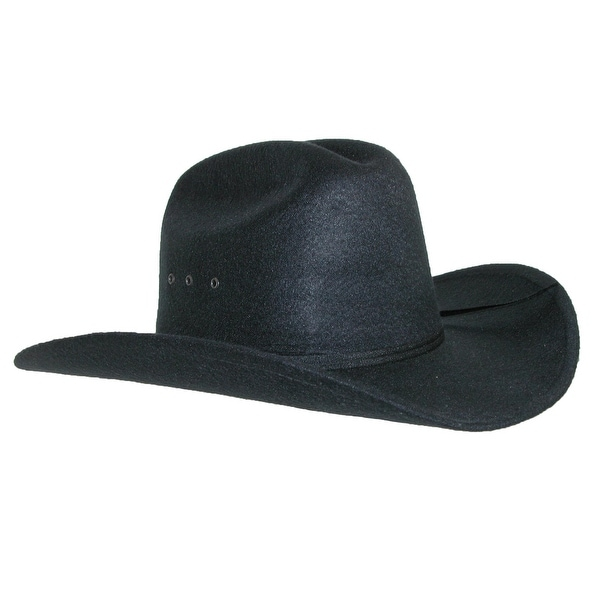 Shop CTM® Men s Wool Felt Wide Brim Cattleman Cowboy Western Hat ... f39d3b546153