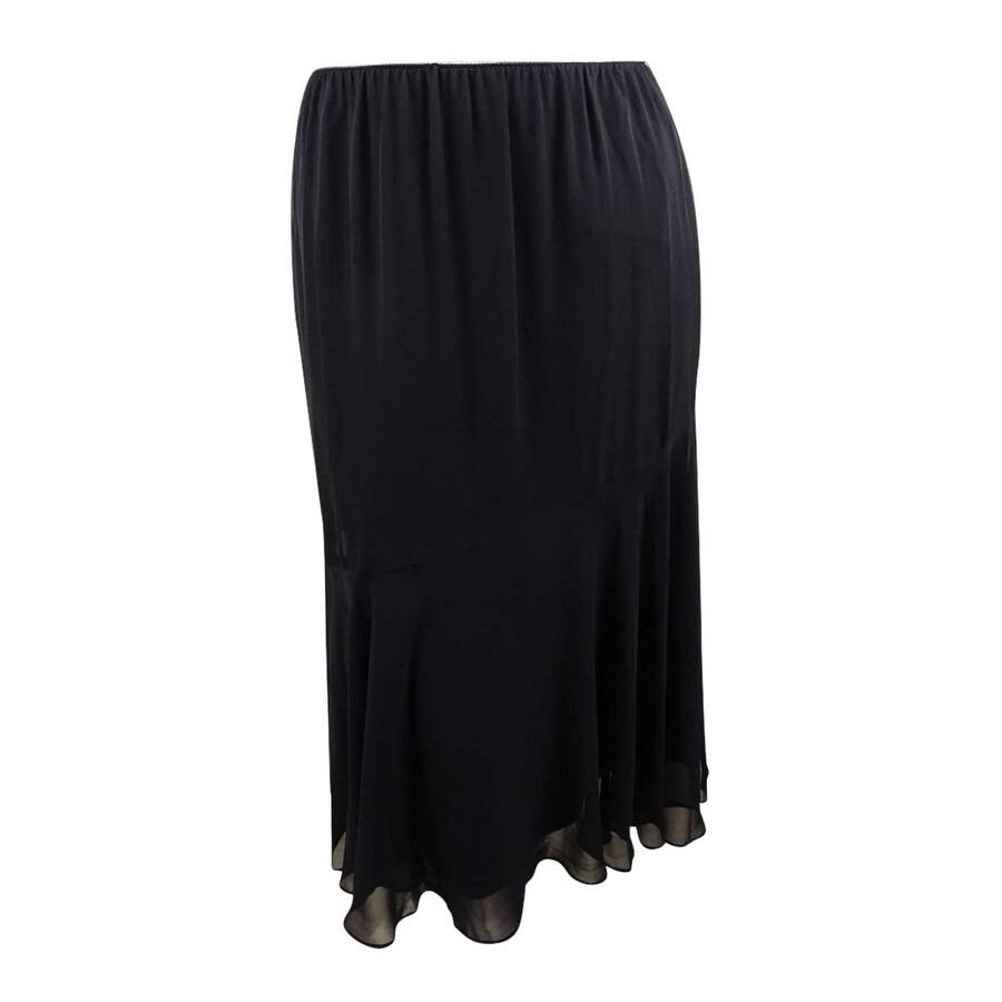 Alex Evenings Women/'s Pleated Chiffon Midi Skirt