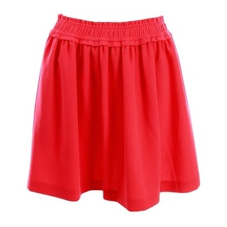 Kate Spade Womens Crepe Gathered A-Line Skirt - M
