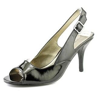 Tahari Ramona Women Peep-Toe Patent Leather Slingback Heel