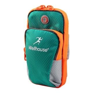 Wellhouse Authorized Jogging Phone Holder Adjustable Run Sports Arm Bag Teal M