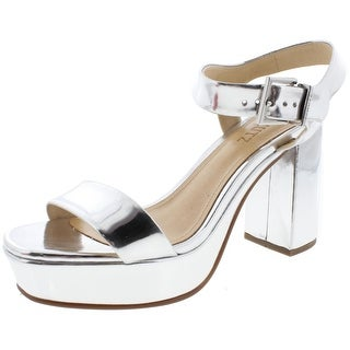 Schutz Womens Rhenda Platform Heels Patent Ankle Strap - 8 medium (b,m)