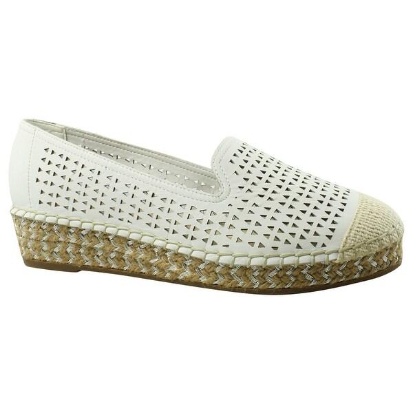 b8dbaf1ebd2077 Shop Bella Vita Womens 50-8473 White Espadrilles Size 6.5 (C