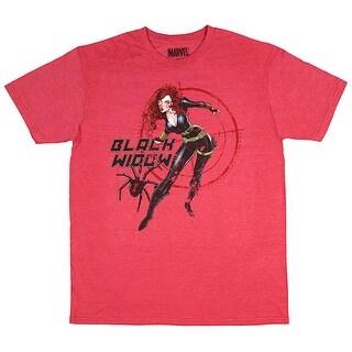 Marvel Comics Black Widow Widowous Men's Heather Red T-Shirt