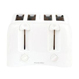 Proctor Silex 24610 4-Slice Toaster, White