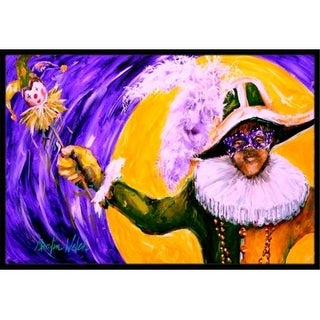 Carolines Treasures MW1109JMAT 24 x 36 in. Mardi Gras Hey Mister Indoor Or Outdoor Doormat