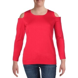 Context Womens Plus Pullover Sweater Knit Ribbed