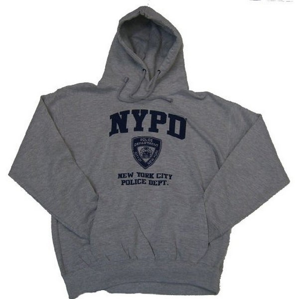 346cb1afb Shop NYPD Full Chest Hooded Sweatshirt - Size: Adult X-Large - Color: Grey  - Free Shipping On Orders Over $45 - Overstock - 21703992