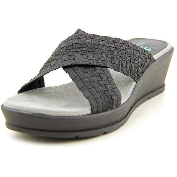 Yuu Fanen Open Toe Canvas Slides Sandal