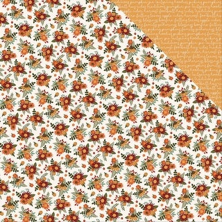 """Autumn Orchard Double-Sided Cardstock 12""""X12""""-Grateful"""