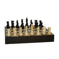 Black Lardy Classic Chess Set With Black/Maple Chest - Multicolored