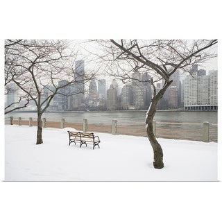 """USA, New York City, Manhattan in winter"" Poster Print"