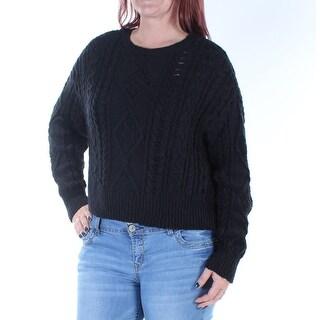 RALPH LAUREN D & S $98 Womens New 1423 Black Dolman Sleeve Sweater L B+B