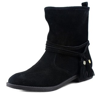 Tommy Hilfiger Amberlee Round Toe Suede Ankle Boot