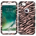 Insten Rose Gold/ Black Zebra Tuff Hard PC/ Silicone Dual Layer Hybrid Rubberized Matte Case Cover For Apple iPhone 7 - Thumbnail 0