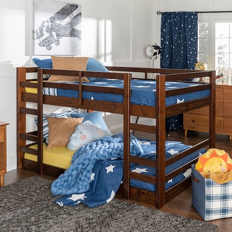 Taylor & Olive Browning Twin Solid Pine Low Bunk Bed