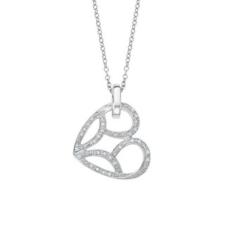 Jessica Simpson Heart Pendant with 1/8 ct Diamonds in Sterling Silver