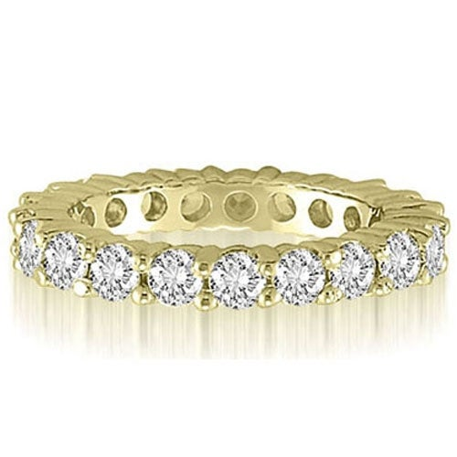 3.20 cttw. 14K Yellow Gold Classic Round Cut Diamond Eternity Wedding Band