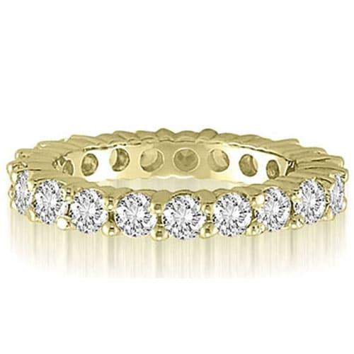 3.20 cttw. 14K Yellow Gold Classic Round Cut Diamond Eternity Wedding Band
