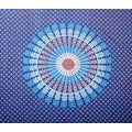 Handmade Sanganer Mandala Peacock 100% Cotton Tapestry Tablecloth Bedspread in Red Blue & Green colors in Twin & Full sizes - Thumbnail 6