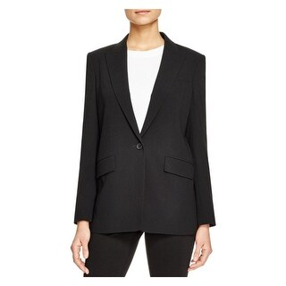 DKNY Womens Petites One-Button Blazer Open Back Long Sleeve