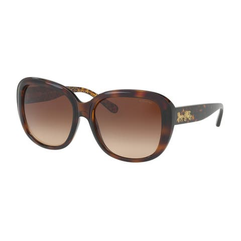 Coach Women's HC8207 539413 57 Grey Gradient Plastic Square Sunglasses