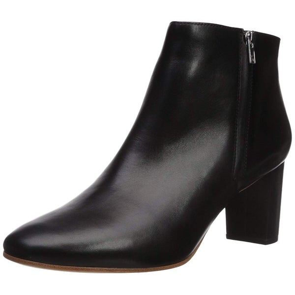 carlos by carlos santana Womens Greer Leather Almond Toe Ankle Fashion Boots