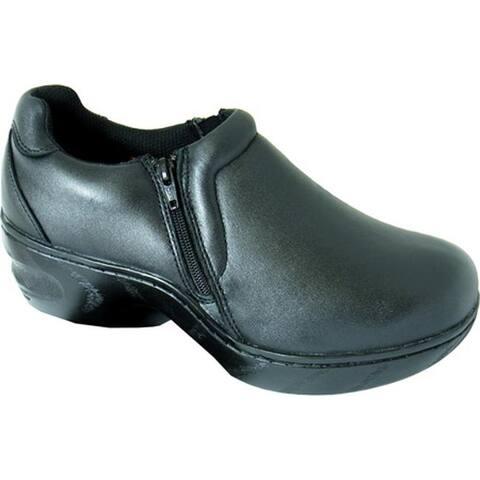 Genuine Grip Footwear Women's Slip-Resistant Slip-on Zipper Black