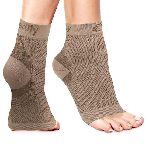 Serenily Plantar Faciitis Socks - Toeless Socks for Foot Pain