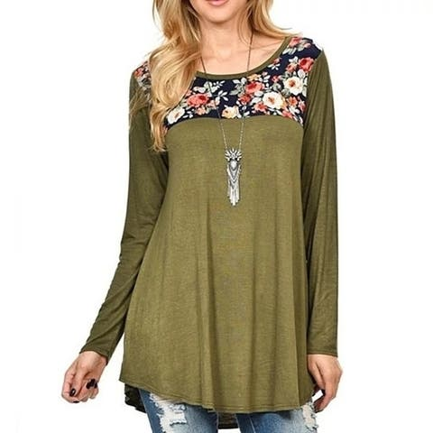 Floral Gal Flowery Tunic (Available In Plus Sizes)